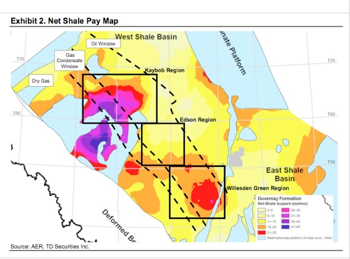 Duvernay Oil - Geology Map